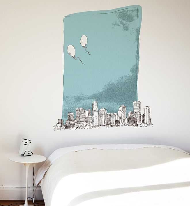 Denver Skyline Wall Sticker