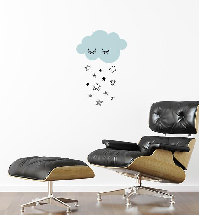 Cloud Raining Stars Wall Sticker