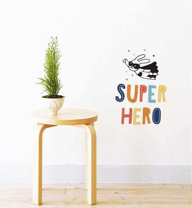 Super Hero Wall Sticker