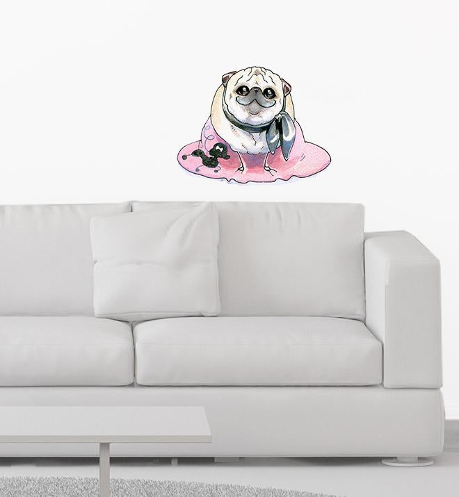 The Best Gal Pug Wall Sticker