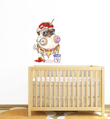 See Something You Like Pug Wall Sticker