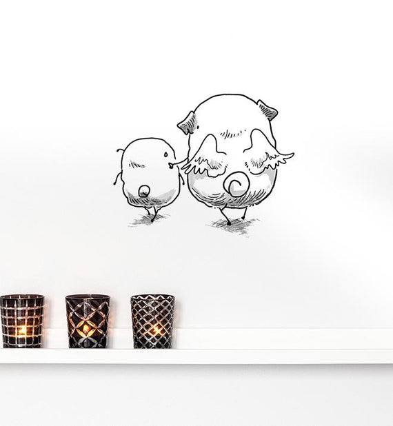 Angel Pugs Wall Sticker