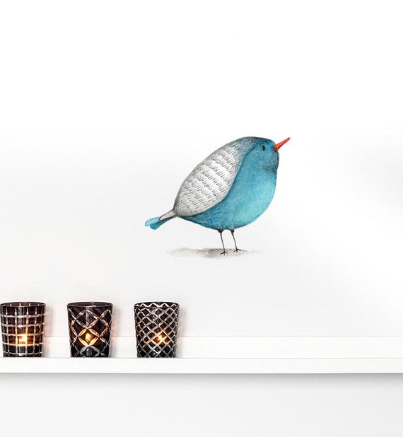 Blue Bird Wall Sticker