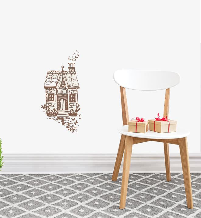 Single Cottage House Wall Sticker