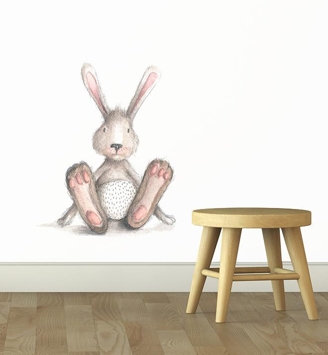 Bunny With Big Feet Wall Sticker