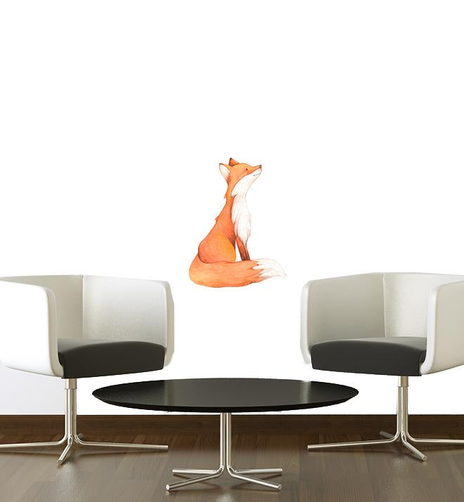 Sitting Fox Wall Sticker