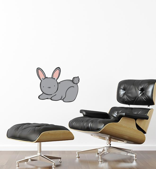 Bunny With Cute Face Wall Sticker