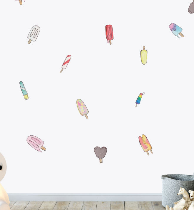 Melting Ice Cream Pattern Pack Wall Sticker