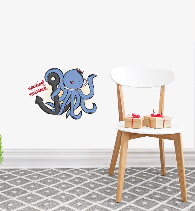 Nautical Nuisance Octopus Wall Sticker