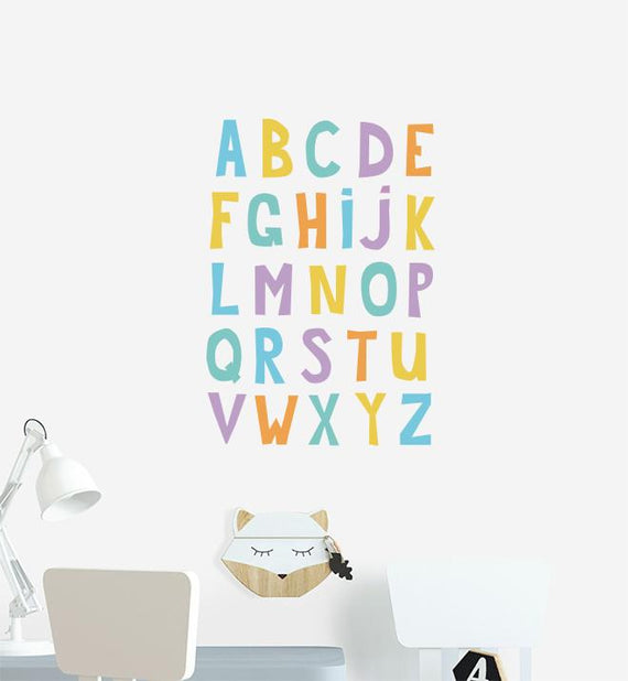 Multi-Coloured Alphabet Wall Sticker