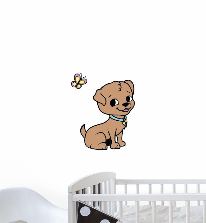Cartoon Puppy Wall Sticker