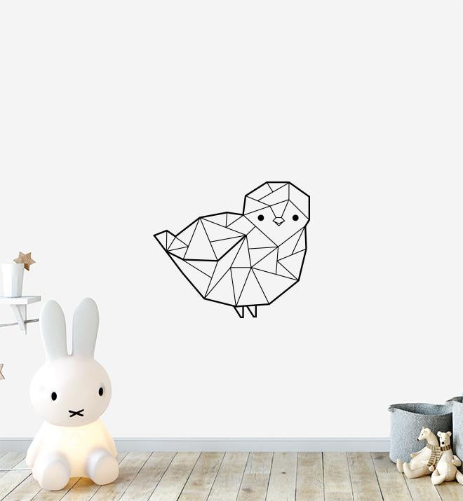 Geometric Bird Wall Sticker