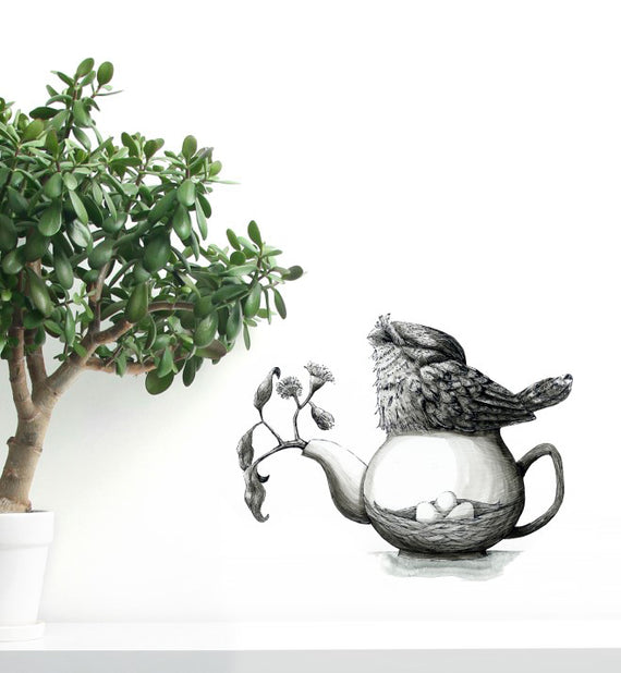 Nesting Frogmouth Wall Sticker