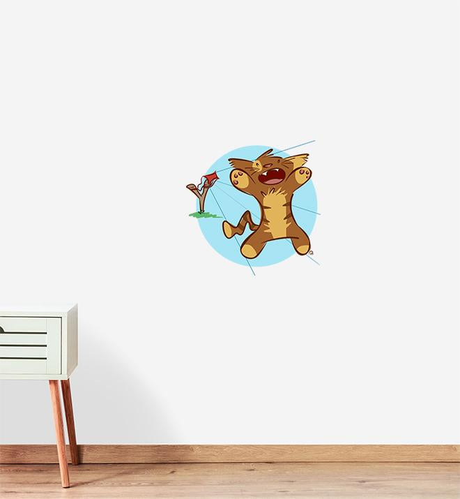 CAT-a-pult Wall Sticker