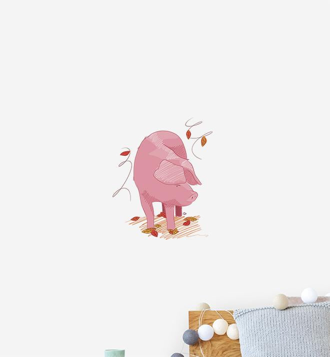 Lovely Pig Wall Sticker