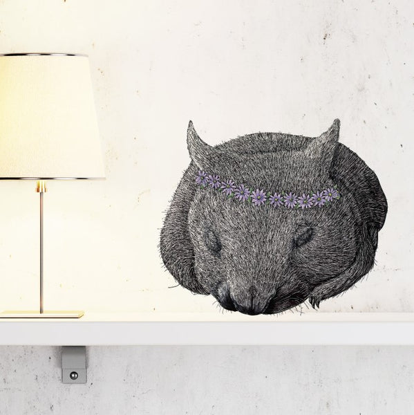Wombat Marguerite Wall Sticker