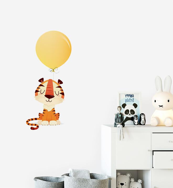 Tiger With Big Balloon Wall Sticker