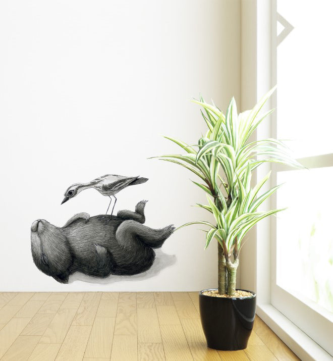 Wombat Curlew Wall Sticker