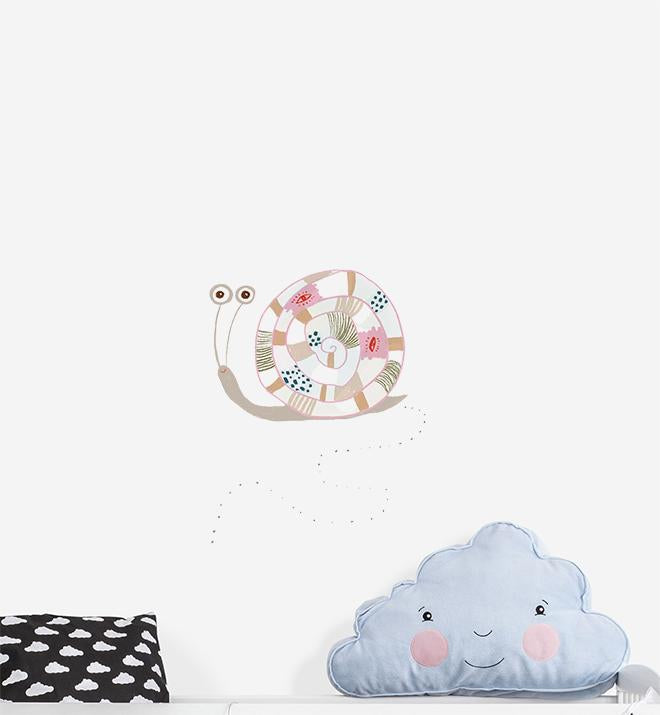 Cute Happy Snail Wall Sticker