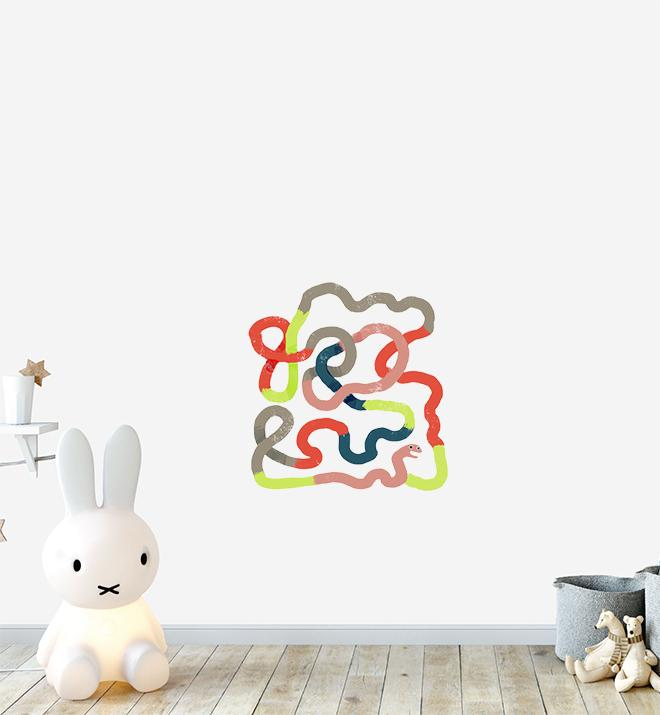 Super Swirly Worm Wall Sticker