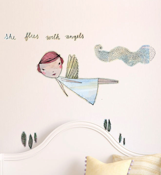 She flies with the Angels Wall Sticker
