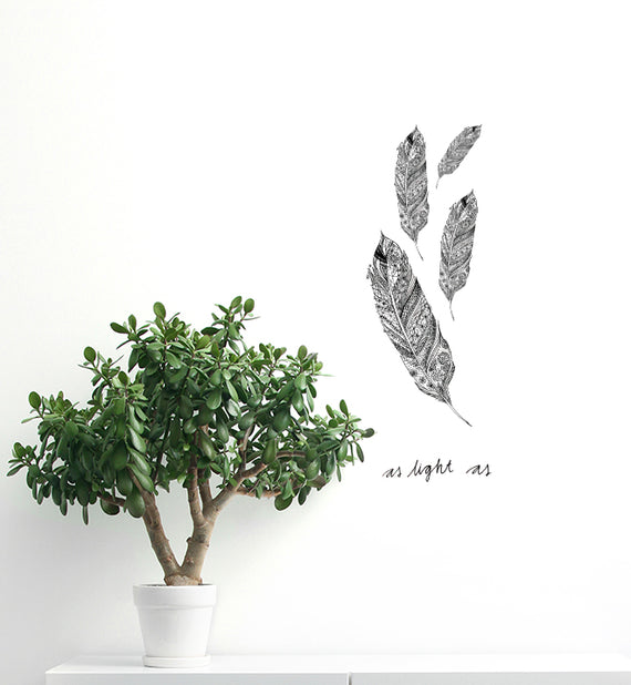 Light as a Feather Wall Sticker