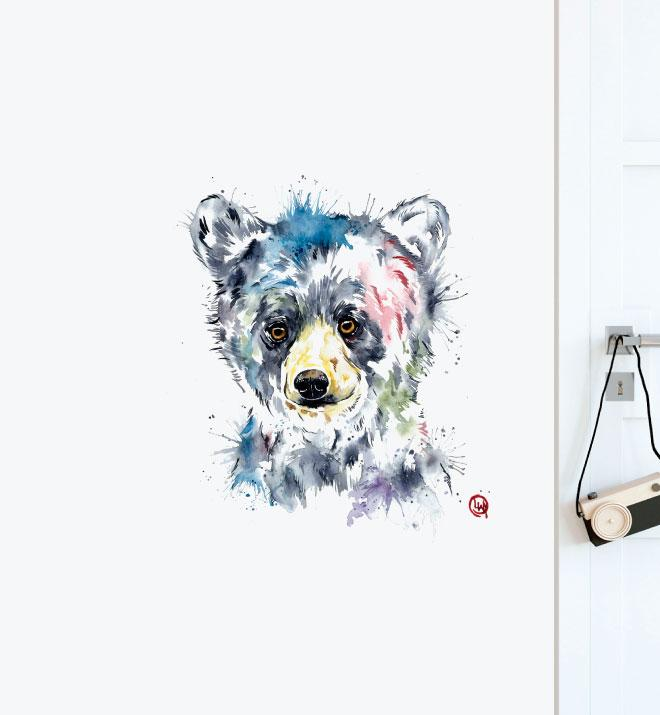 Baby Black Bear Wall Sticker