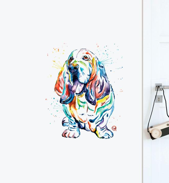 Basset Hound  Wall Sticker