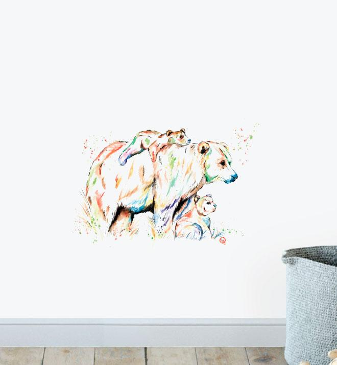 Bear Family Wall Sticker
