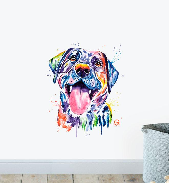 Black Lab Wall Sticker