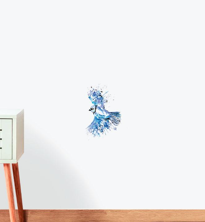 Bluetiful - Blue Jay Wall Sticker