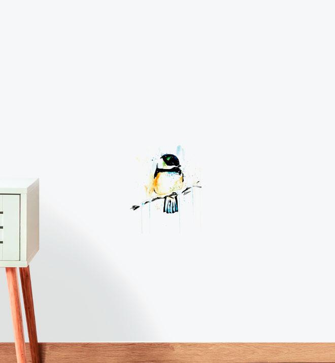 Chickadee - Winter Friend Wall Sticker