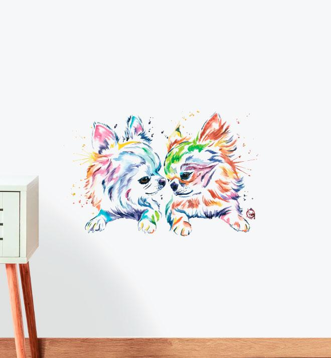 Chihuahua Love Wall Sticker