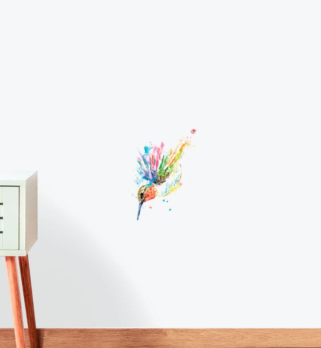 Ruby Hummingbird Wall Sticker