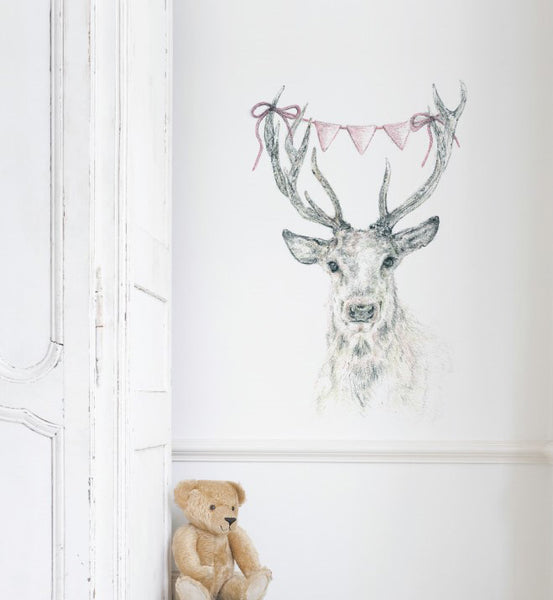Deer Bunting Wall Sticker