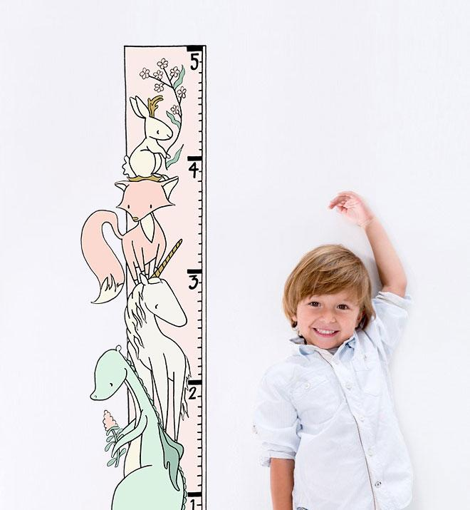 Encharted Growth Chart Wall Sticker