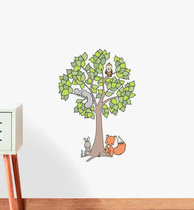 The Wild Woods Wall Sticker