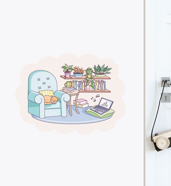 Cute Living Room Wall Sticker