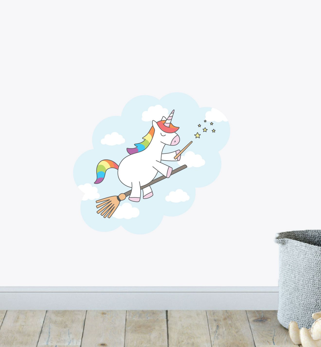 Rainbow Unicorn Magic Wall Sticker