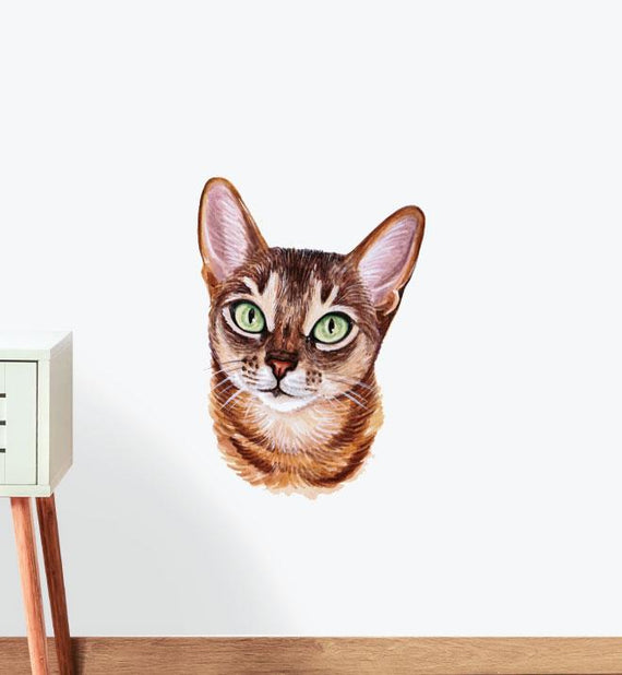 Abyssinian Cheese and Olive Wall Sticker