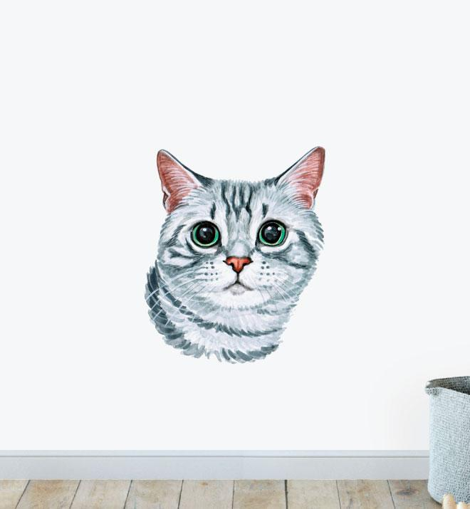 American Shorthair Matsumotooooo Cat Wall Sticker