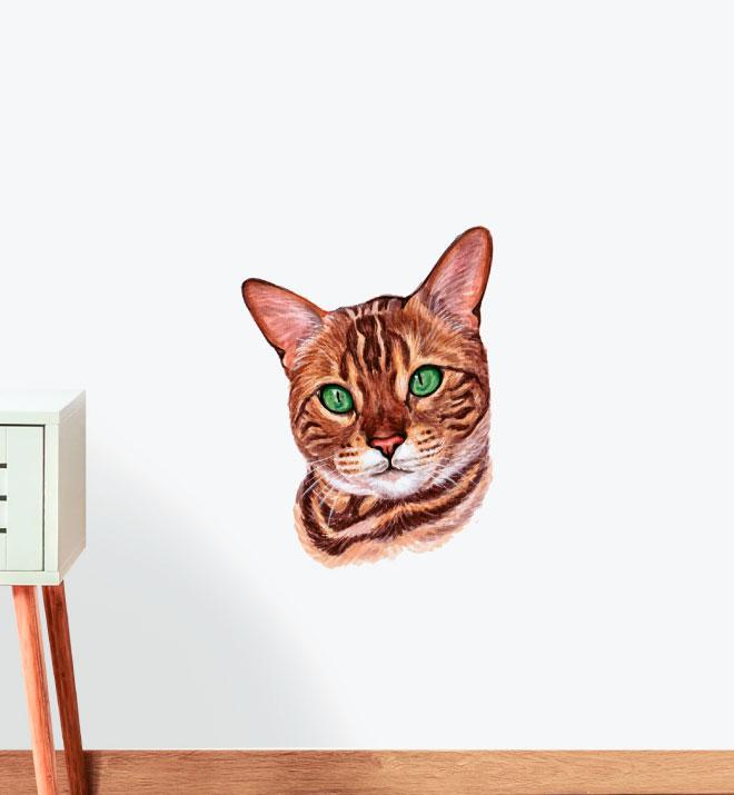 Bengal Bengalthor Cat Wall Sticker