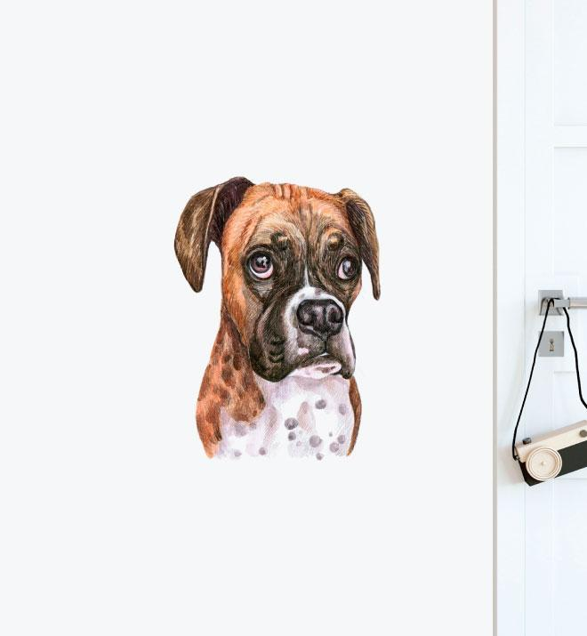 Boxer Dog Wall Sticker