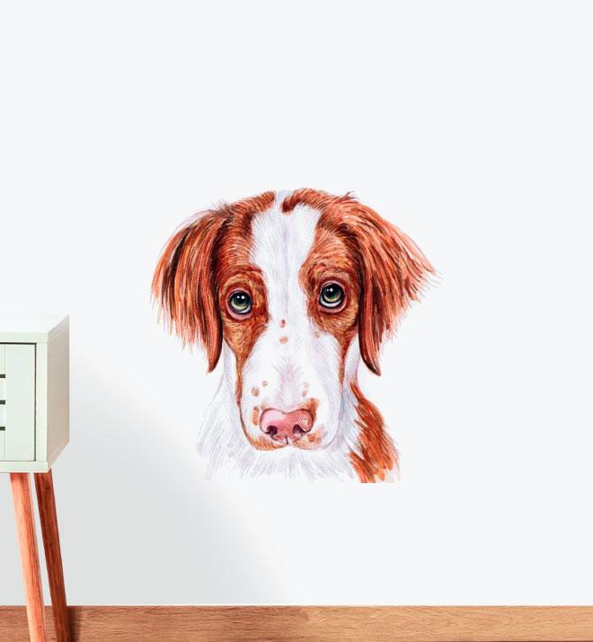Brittany Spaniel Dog Wall Sticker