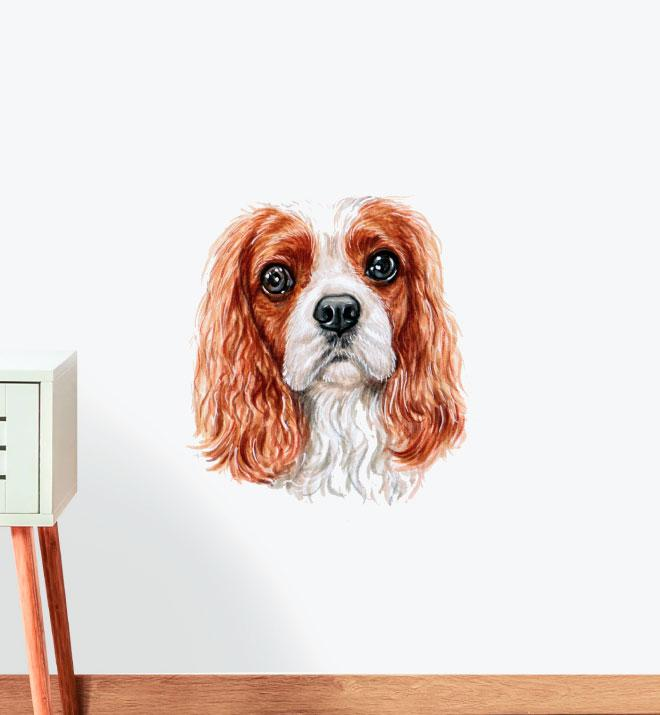 Cavalier King Spaniel Dog Wall Sticker