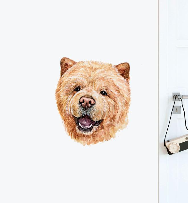 ChowChow Dog Wall Sticker
