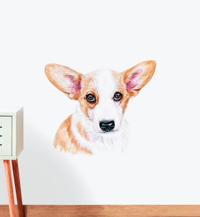 Corgi Dog Wall Sticker