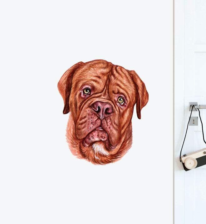 Dogue de Bordeaux Dog Wall Sticker