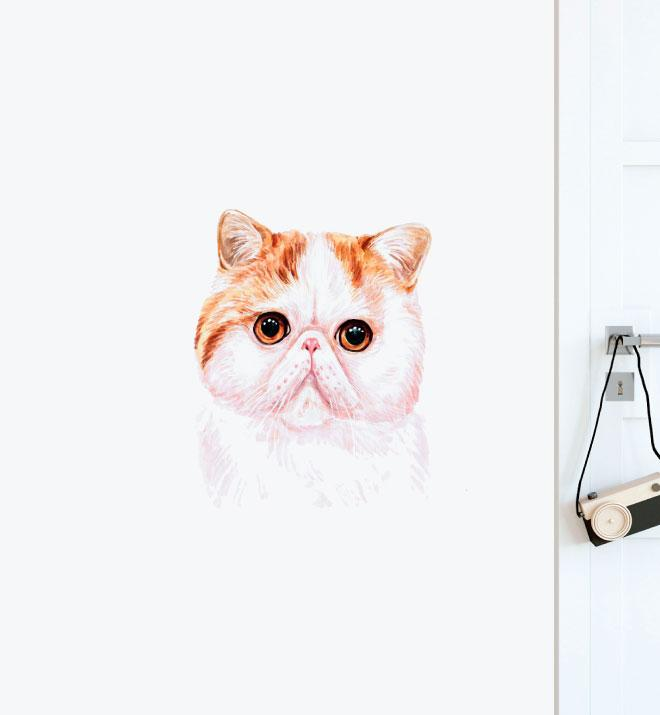 Exotic Shorthair Dog Wall Sticker