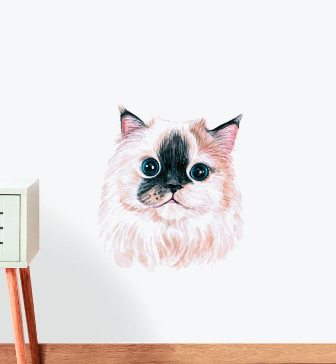 Himalayan Purrfectsmudge Cat Wall Sticker